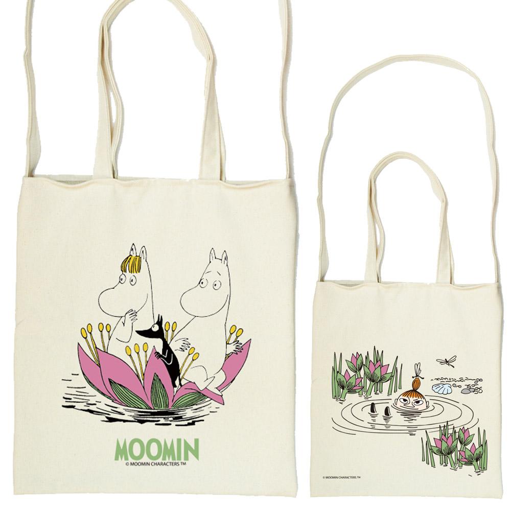 YOSHI850 Moomin嚕嚕米正版授權:斜背包【蓮花池邊的嬉戲】