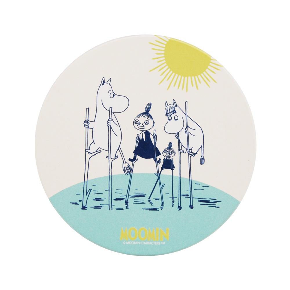 YOSHI850|Moomin嚕嚕米正版授權:吸水杯墊【Follow me】(方.圓)