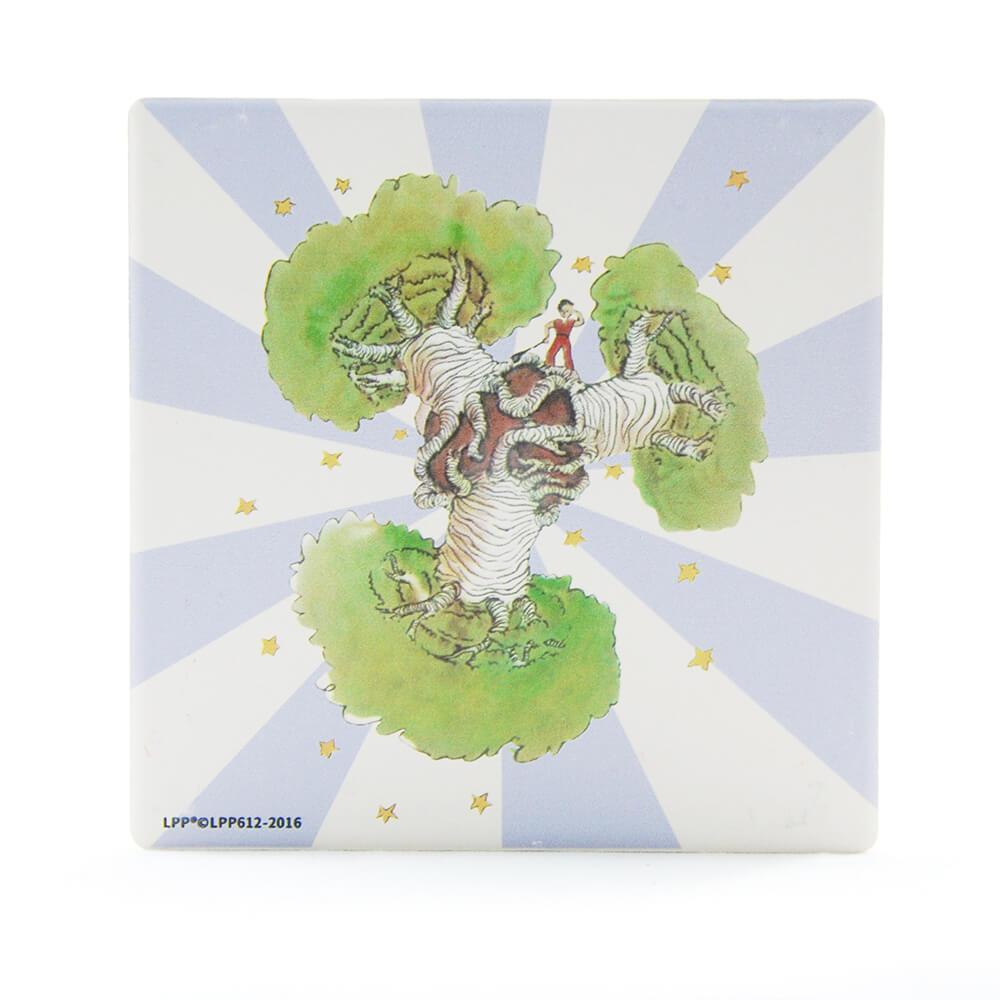 YOSHI850|經典小王子正版授權:吸水杯墊【猢猻麵包樹】(方.圓)