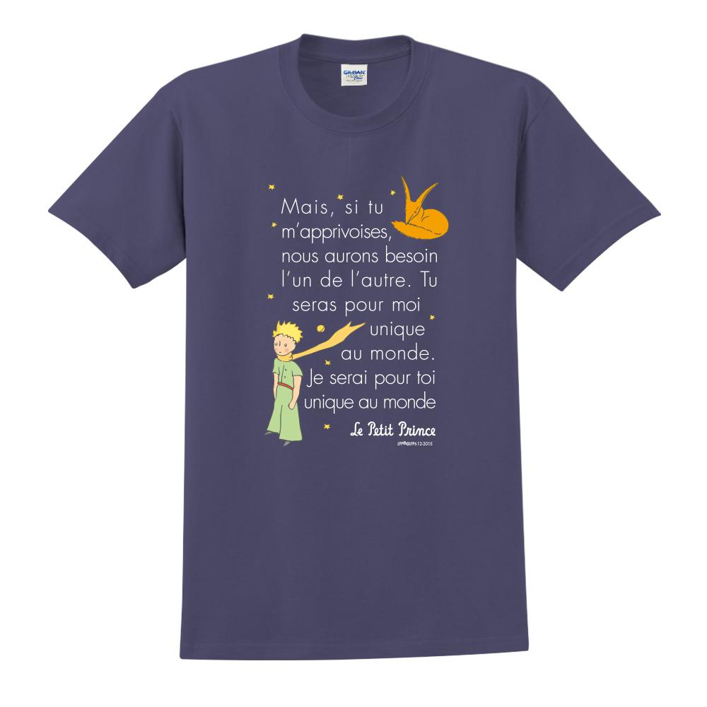 YOSHI850|小王子經典版授權【對我來說你是獨一無二】短袖中性T-shirt (藏青)