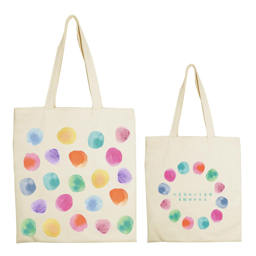 YOSHI850|新創設計師系列:手提購物包【印在心上】米白/麻黃