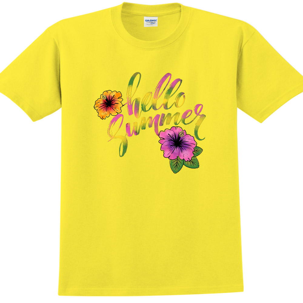 YOSHI850|新創設計師850 Collections【Hello Summer】短袖成人T-shirt (黃)