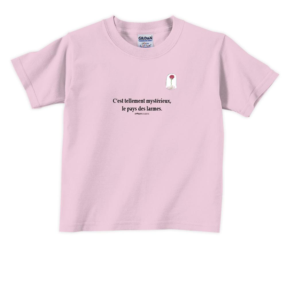 YOSHI850|小王子經典版授權【玻璃罩裡的玫瑰花】短袖兒童T-shirt《9色》