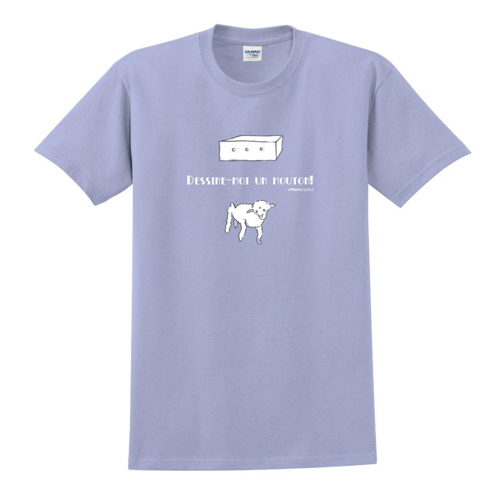 YOSHI850|小王子經典版授權【幫我畫隻羊】短袖中性T-shirt (卡藍)