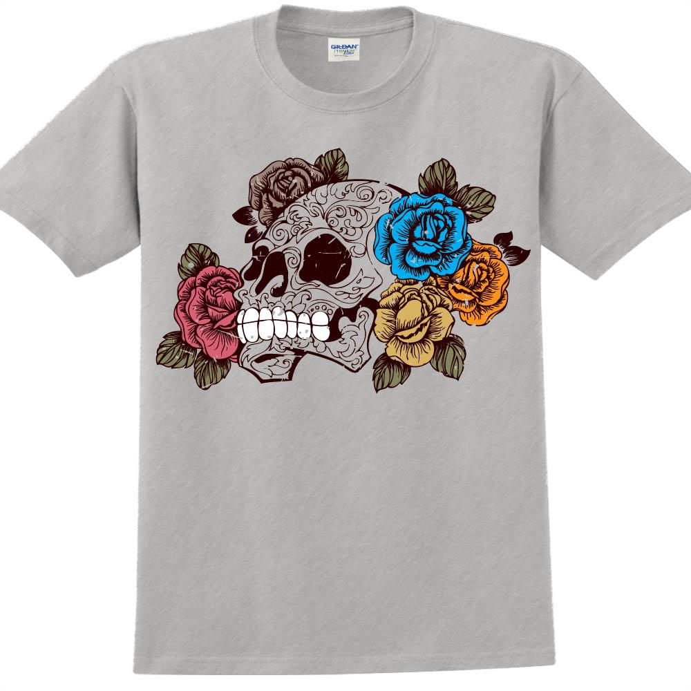 YOSHI850|新創設計師850 Collections【盛開與凋零】短袖成人T-shirt (麻灰)