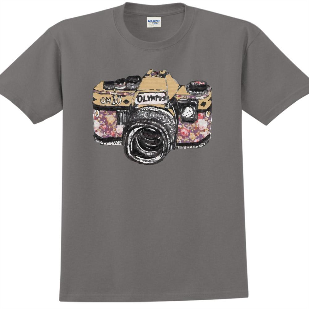 YOSHI850|新創設計師850 Collections【Camara】短袖成人T-shirt (深灰)