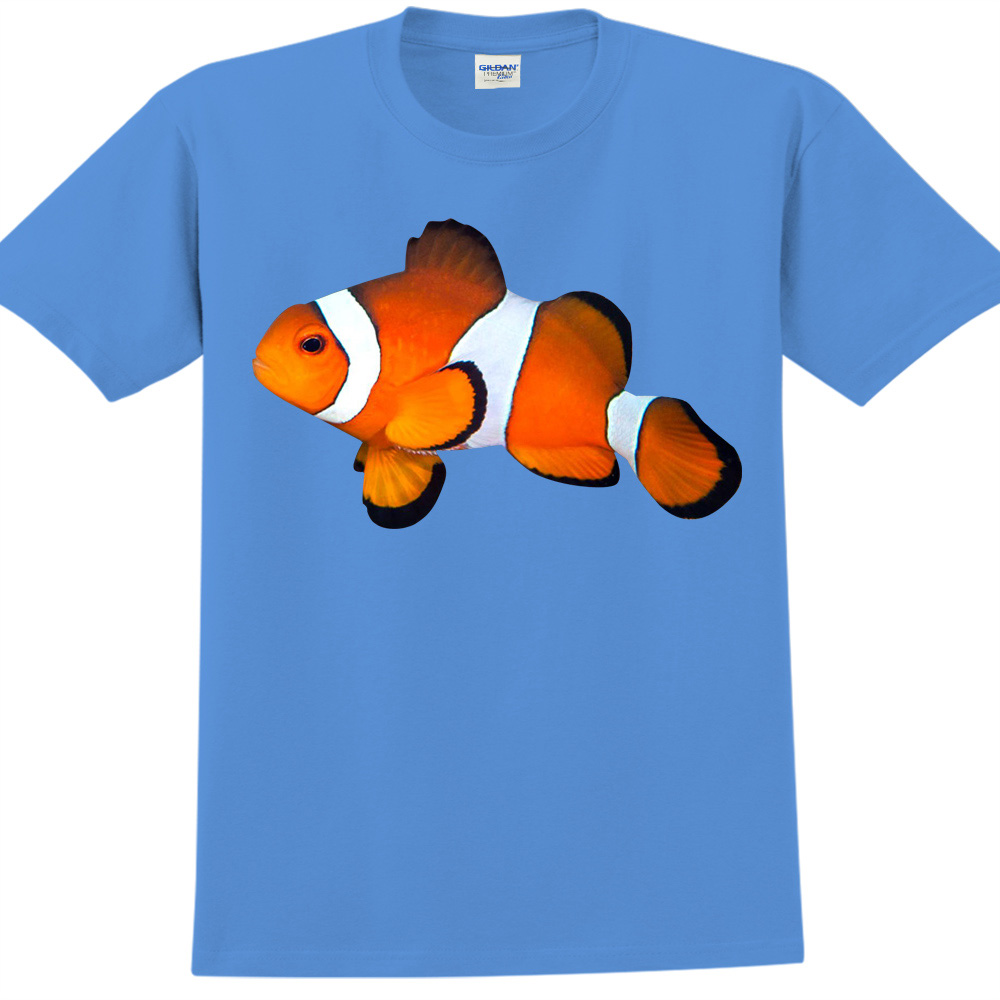 YOSHI850|新創設計師850 Collections【小丑魚】短袖成人T-shirt (寶石藍)