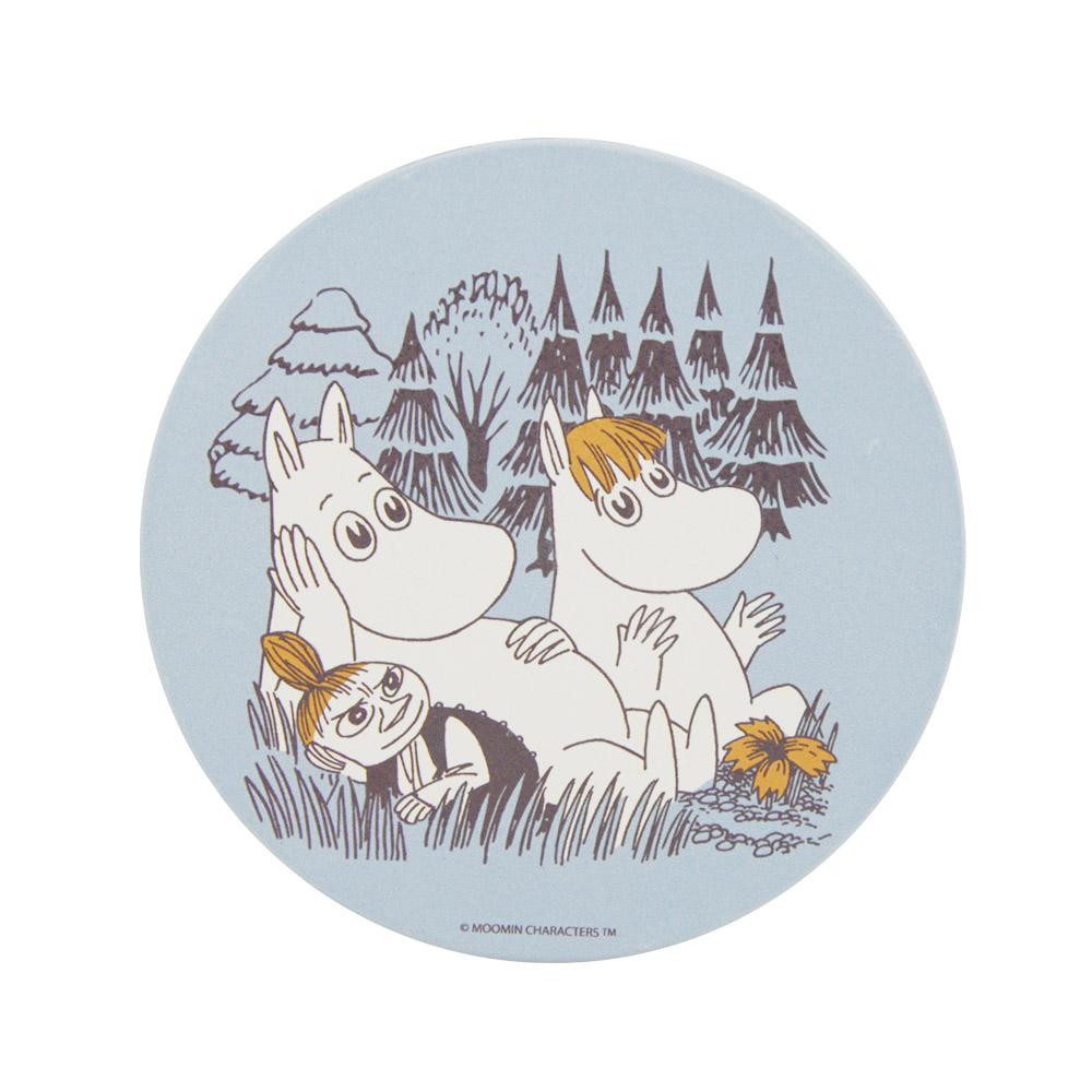 YOSHI850|Moomin嚕嚕米正版授權:吸水杯墊【仲夏之夜(藍)】(方.圓)