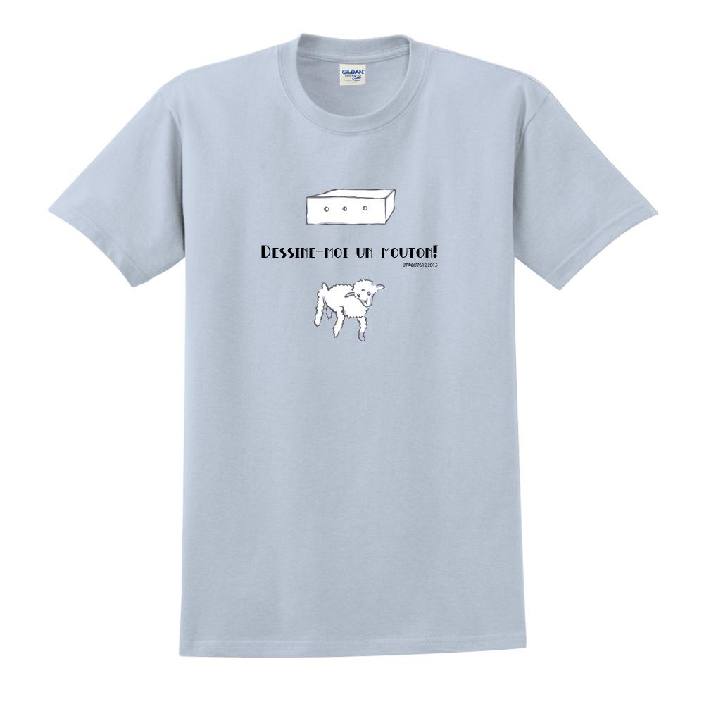 YOSHI850|小王子經典版授權【幫我畫隻羊】短袖中性T-shirt (水藍)