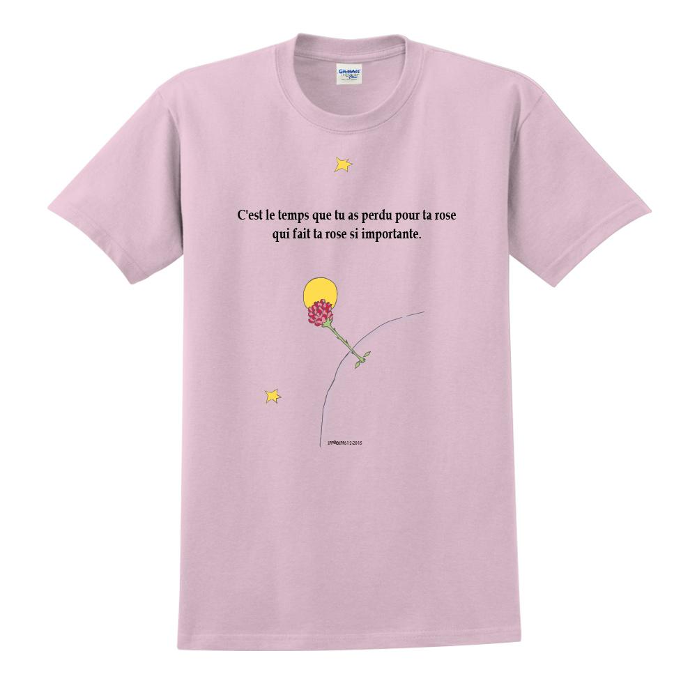 YOSHI850|小王子經典版授權【專屬愛情】短袖中性T-shirt (粉紅)