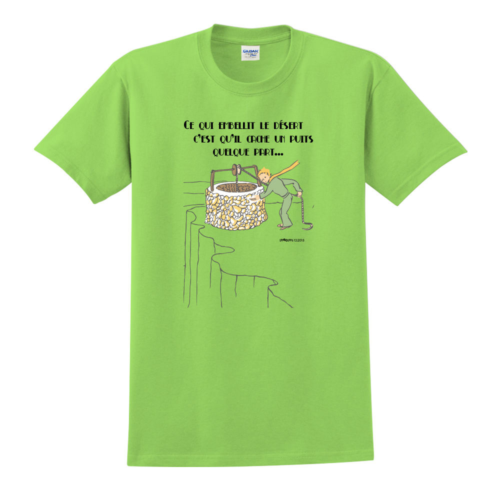 YOSHI850|小王子經典版授權【讓沙漠美麗的水井】短袖中性T-shirt (果綠)