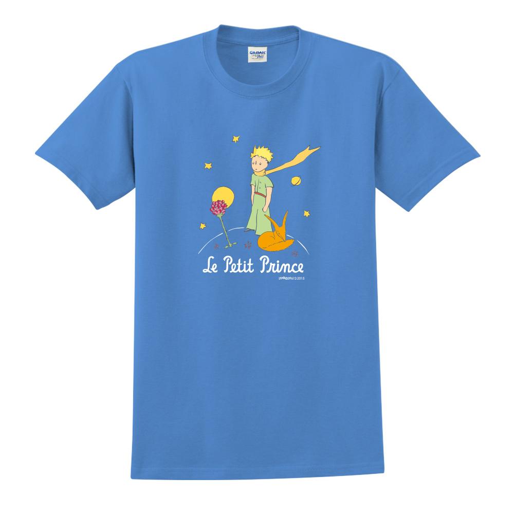 YOSHI850|小王子經典版授權【狐狸的秘密禮物】短袖中性T-shirt (寶石藍)