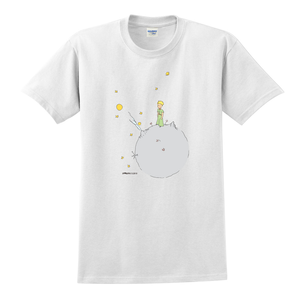 YOSHI850|小王子經典版授權【另一個星球】短袖中性T-shirt (白)