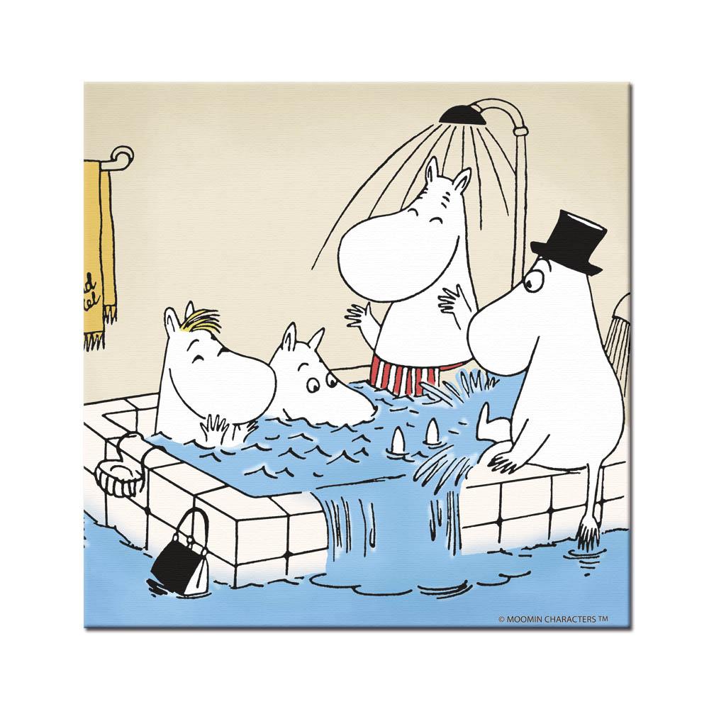YOSHI850|Moomin嚕嚕米:無框畫【Moomin嚕嚕米家族大集合】70×70cm/60×80cm