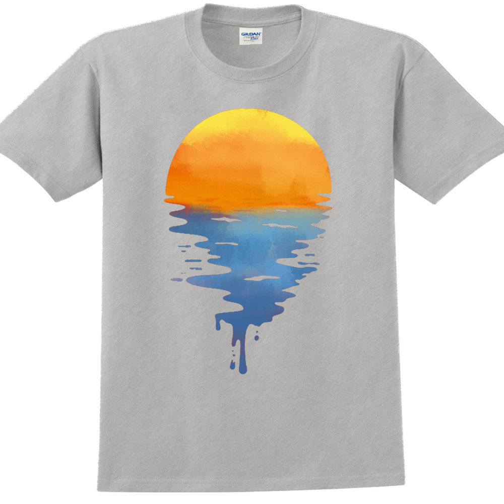 YOSHI850|新創設計師850 Collections【 Shown&Sea】短袖成人T-shirt (麻灰)