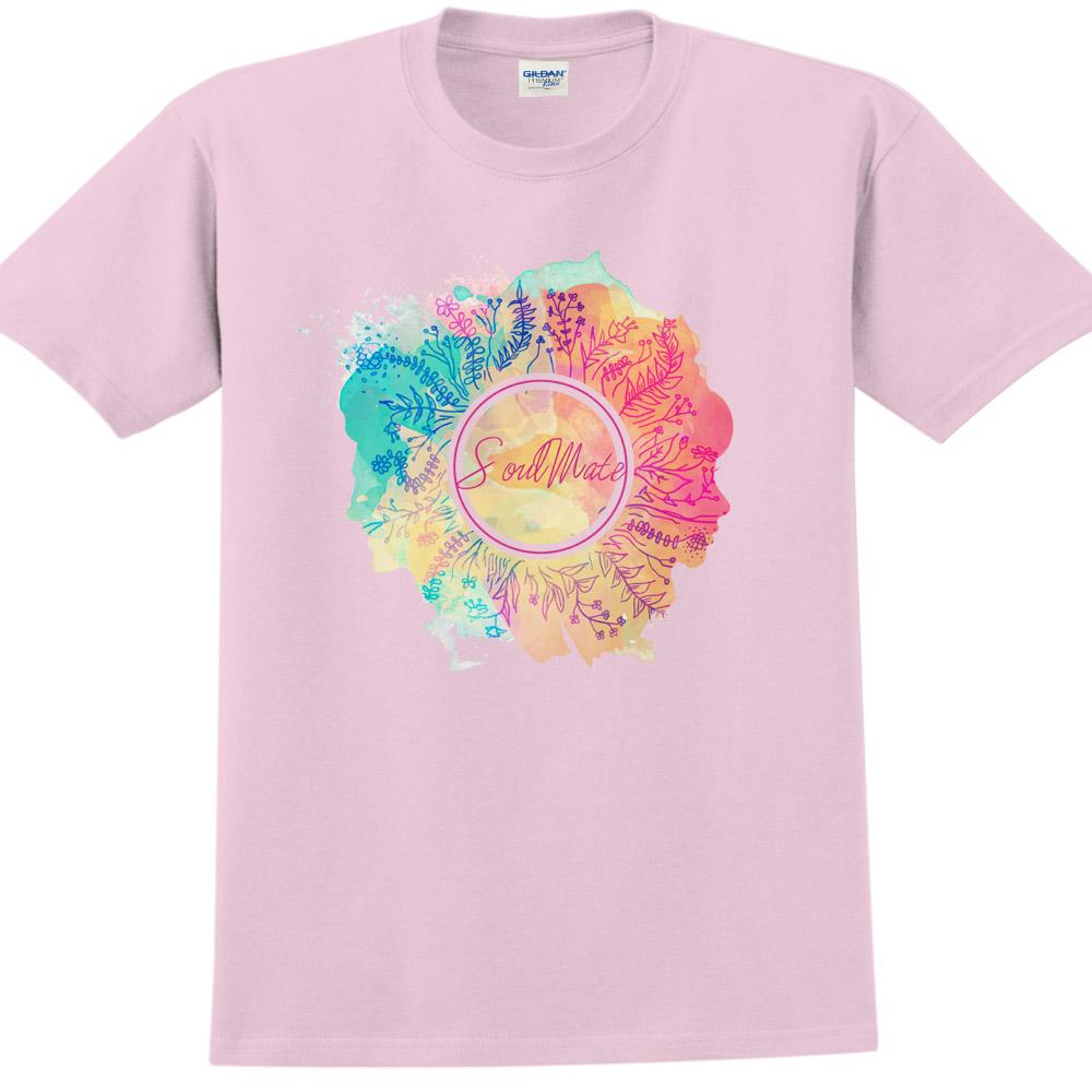 YOSHI850|新創設計師850 Collections【Soulmate】短袖成人T-shirt (粉紅)