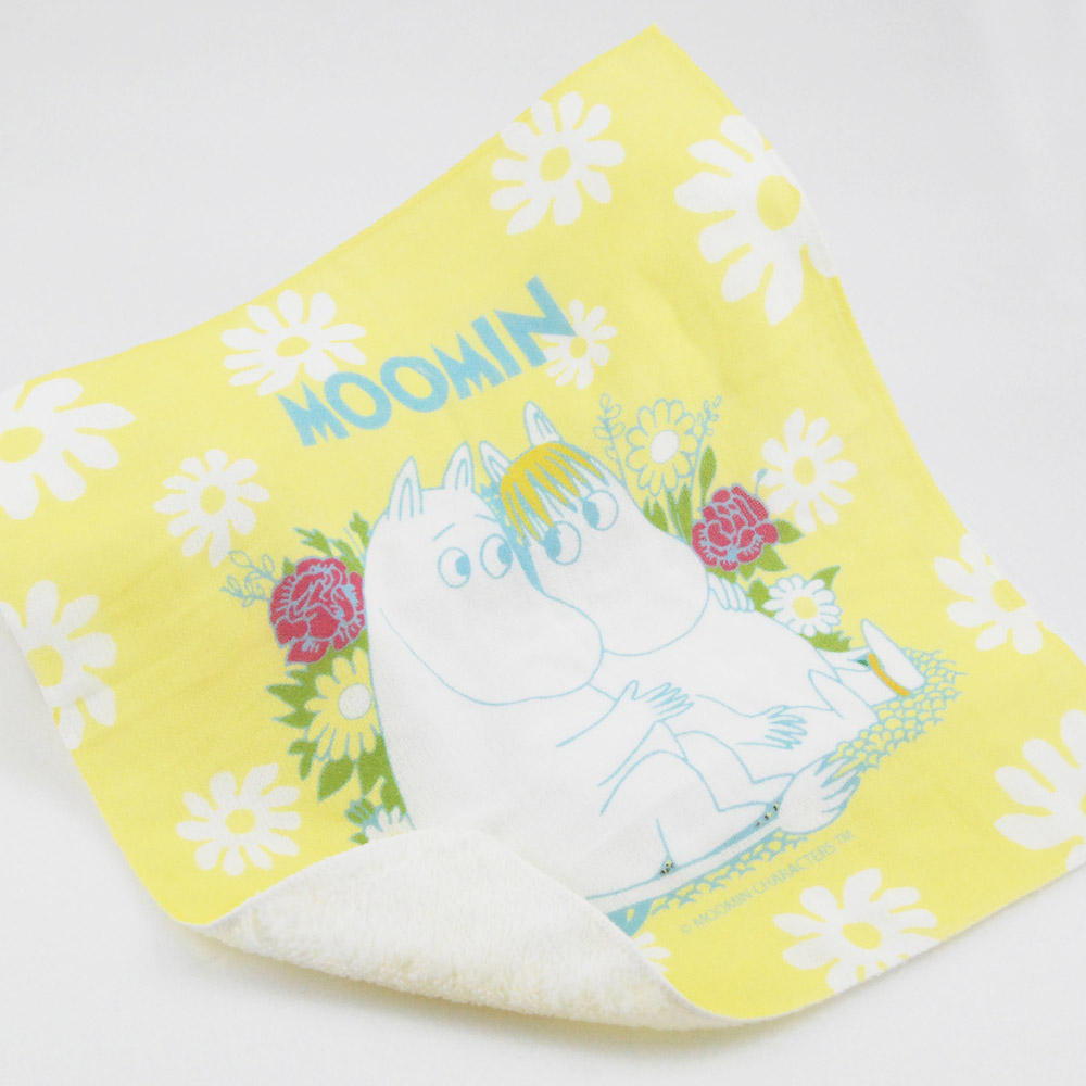 YOSHI850|Moomin嚕嚕米正版授權:柔棉小方巾【羅曼史】