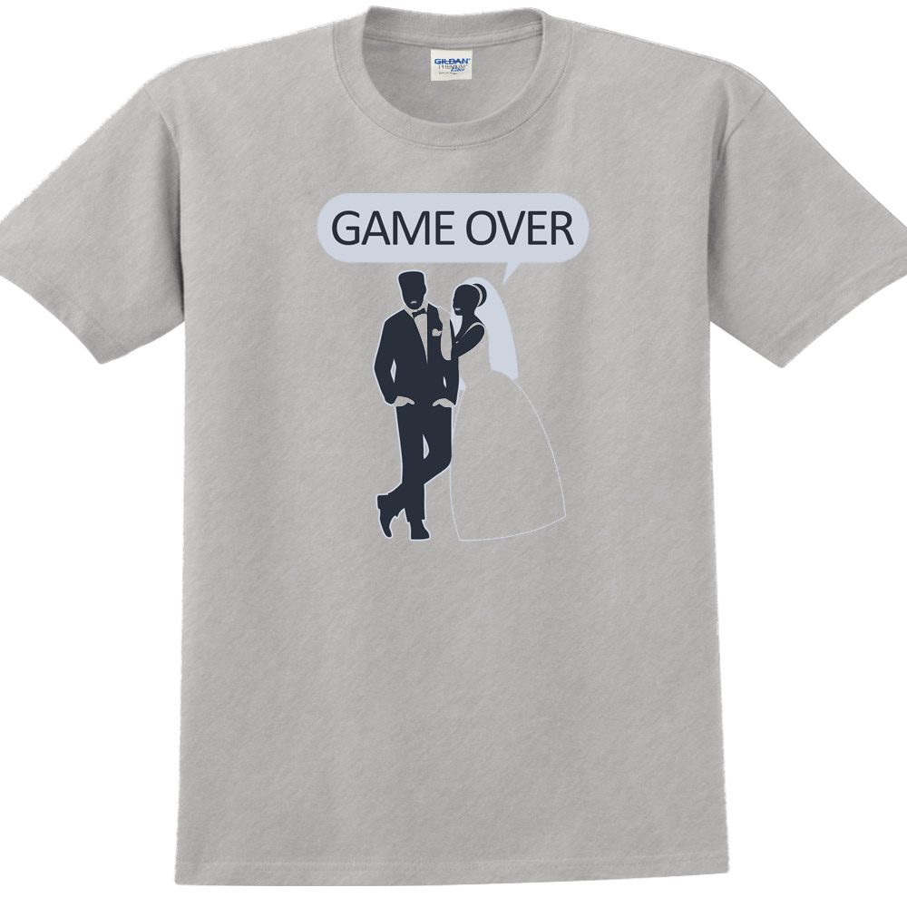 YOSHI850|新創設計師850 Collections【Game over】短袖成人T-shirt  (麻灰)