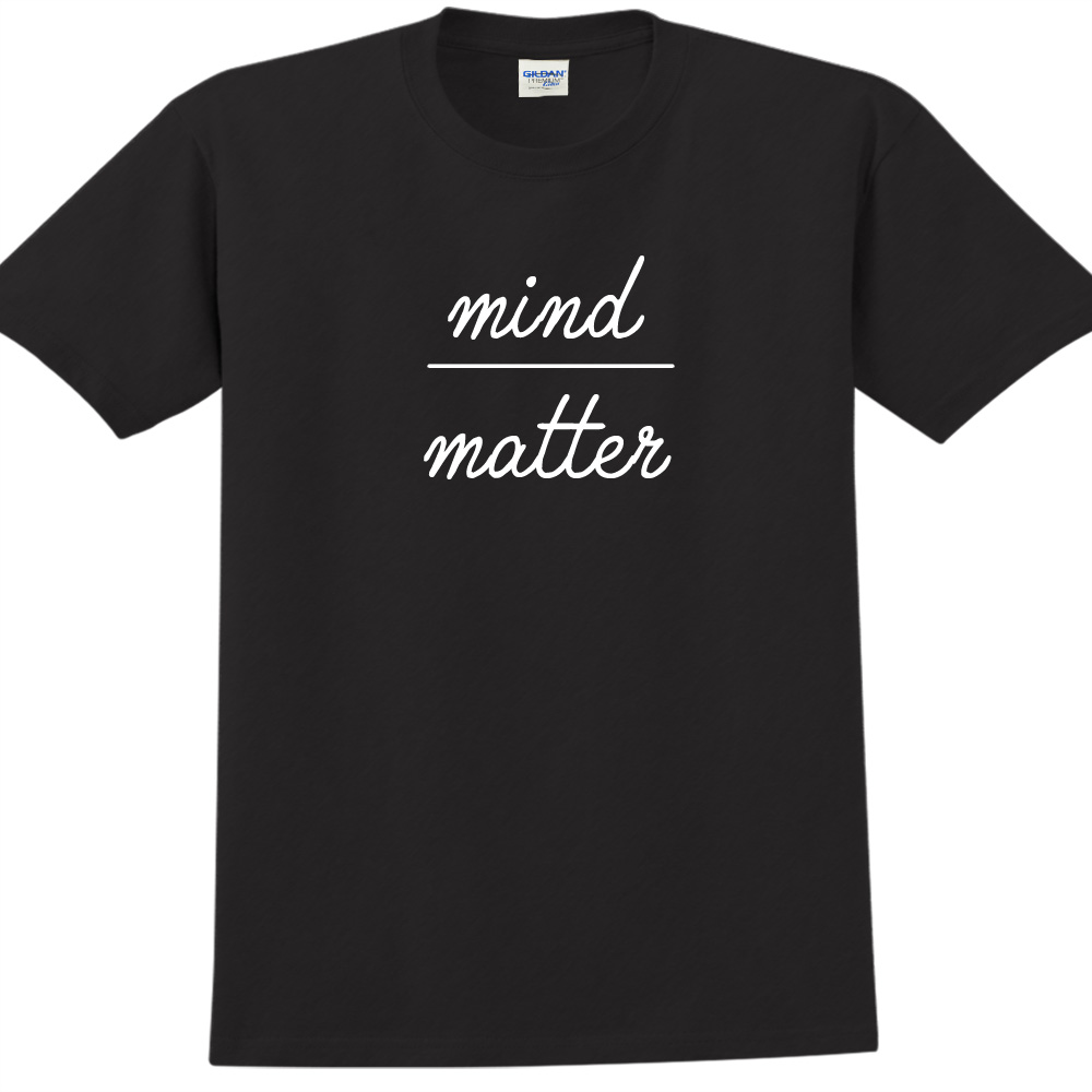 YOSHI850|新創設計師850 Collections【mind over matter】短袖成人T-shirt (黑)