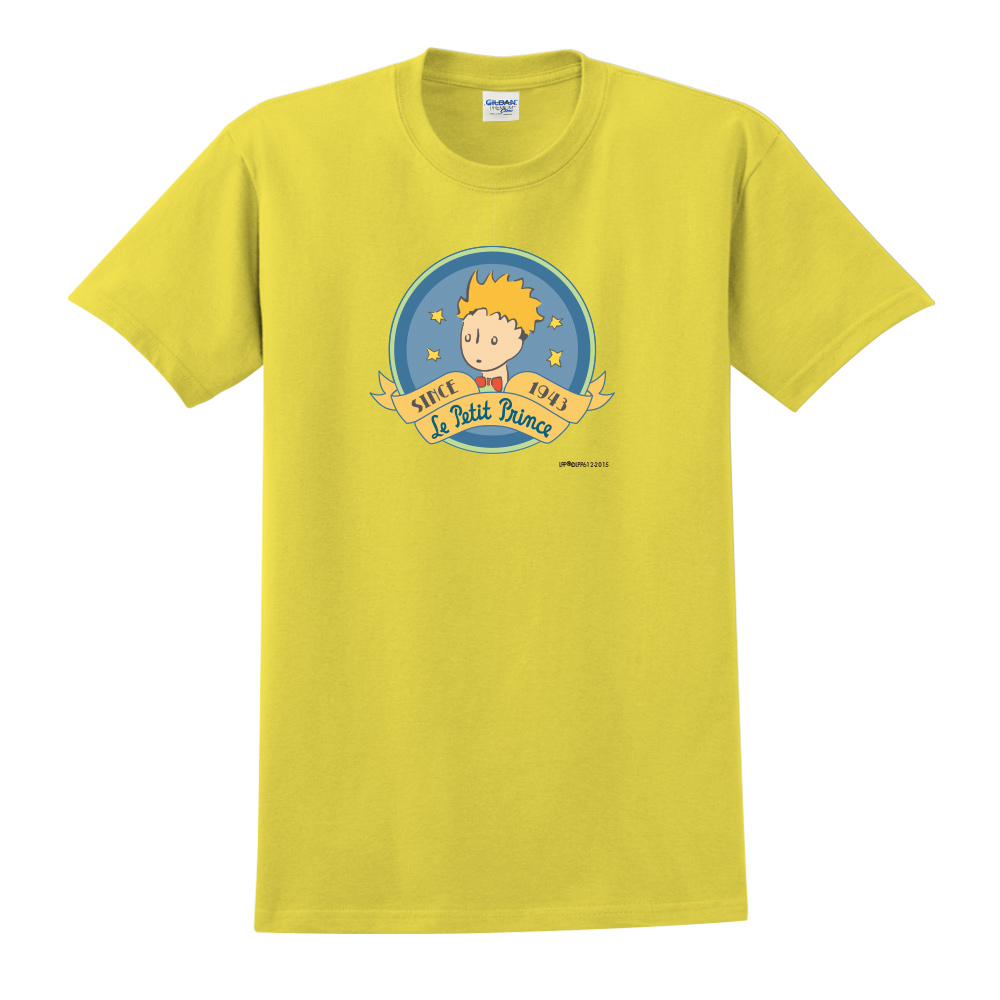 YOSHI850|小王子經典版授權【跟你說聲Hi】短袖中性T-shirt (黃)