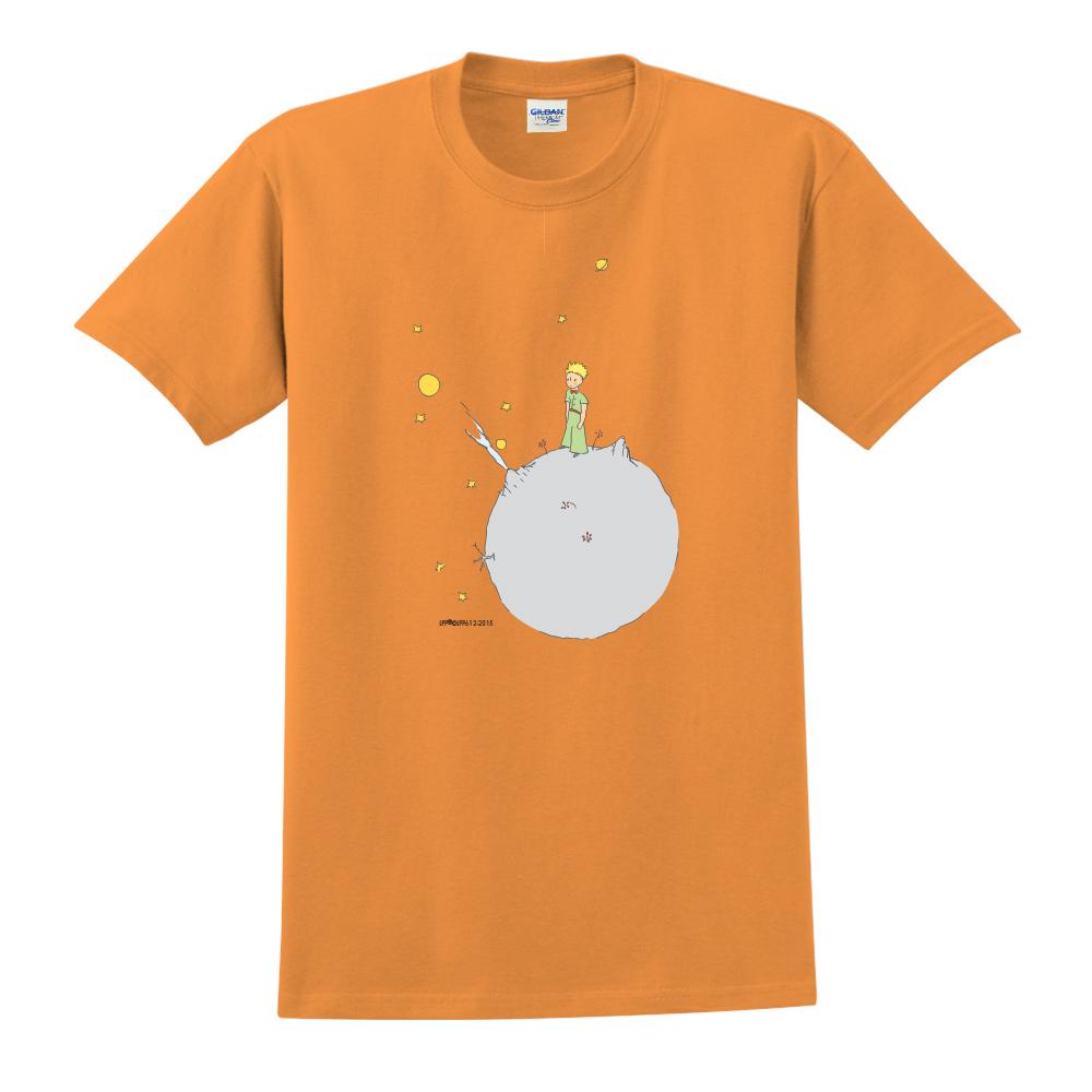 YOSHI850|小王子經典版授權【另一個星球】短袖中性T-shirt (橘)