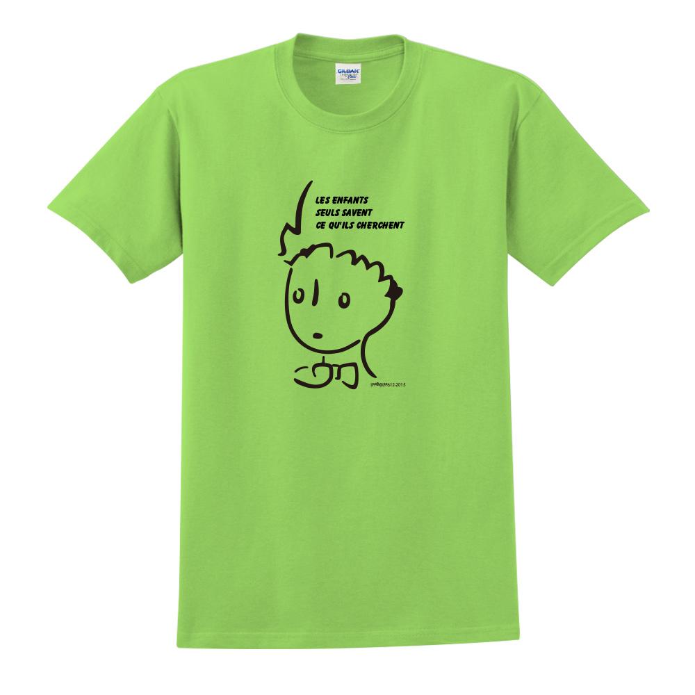 YOSHI850|小王子經典版授權【奇怪的大人們】短袖中性T-shirt (果綠)