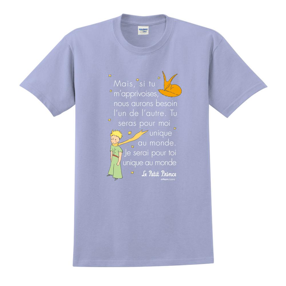 YOSHI850|小王子經典版授權【對我來說你是獨一無二】短袖中性T-shirt (卡藍)