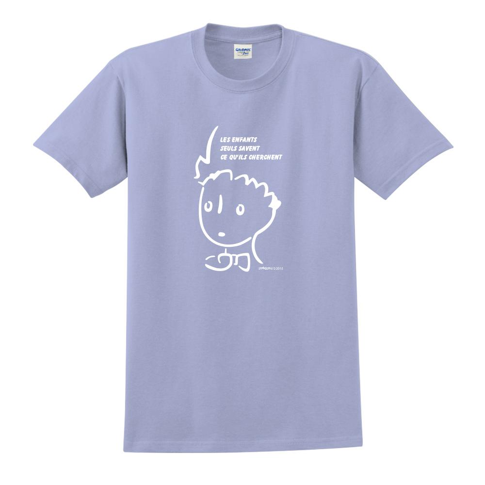 YOSHI850|小王子經典版授權【奇怪的大人們】短袖中性T-shirt (卡藍)