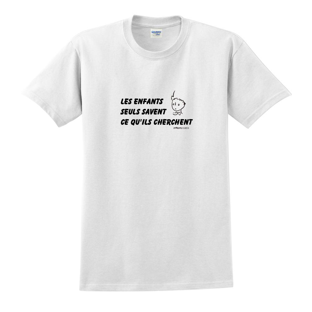 YOSHI850|小王子經典版授權【只有小孩子知道他們在找甚麼】短袖中性T-shirt (白)