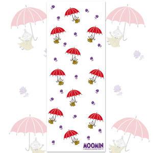 YOSHI850 嚕嚕米正版授權-柔棉(單層)紗布毛巾 【小紅傘】