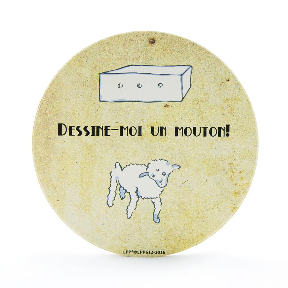 YOSHI850 經典小王子正版授權:吸水杯墊【幫我畫隻羊】(方.圓)