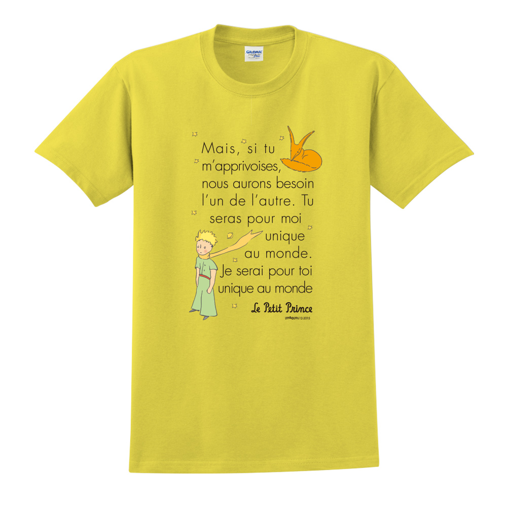 YOSHI850 小王子經典版授權【對我來說你是獨一無二】短袖中性T-shirt (黃)