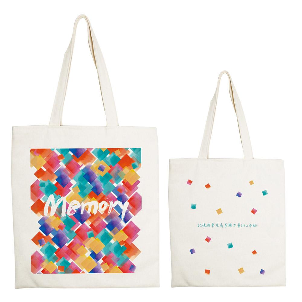 YOSHI850|新創設計師系列:手提購物包【堆疊記憶】米白/麻黃