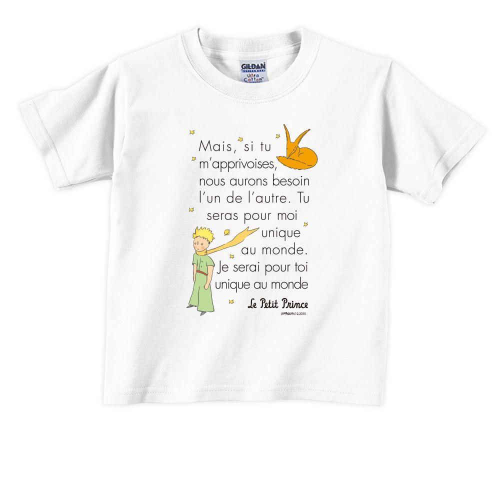 YOSHI850|小王子經典版授權【對我來說你是獨一無二(法)】短袖兒童T-shirt 《3色》
