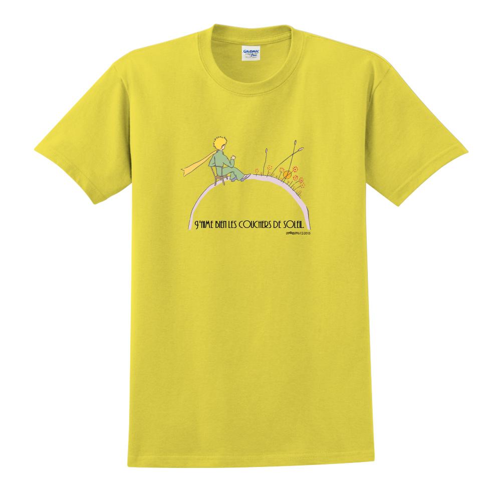 YOSHI850|小王子經典版授權【夕陽】短袖中性T-shirt (黃)