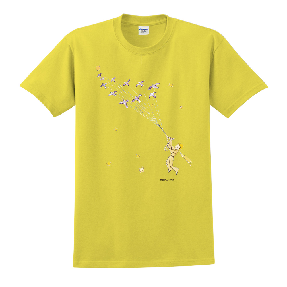 YOSHI850|小王子經典版授權【帶我去旅行】短袖中性T-shirt (黃)