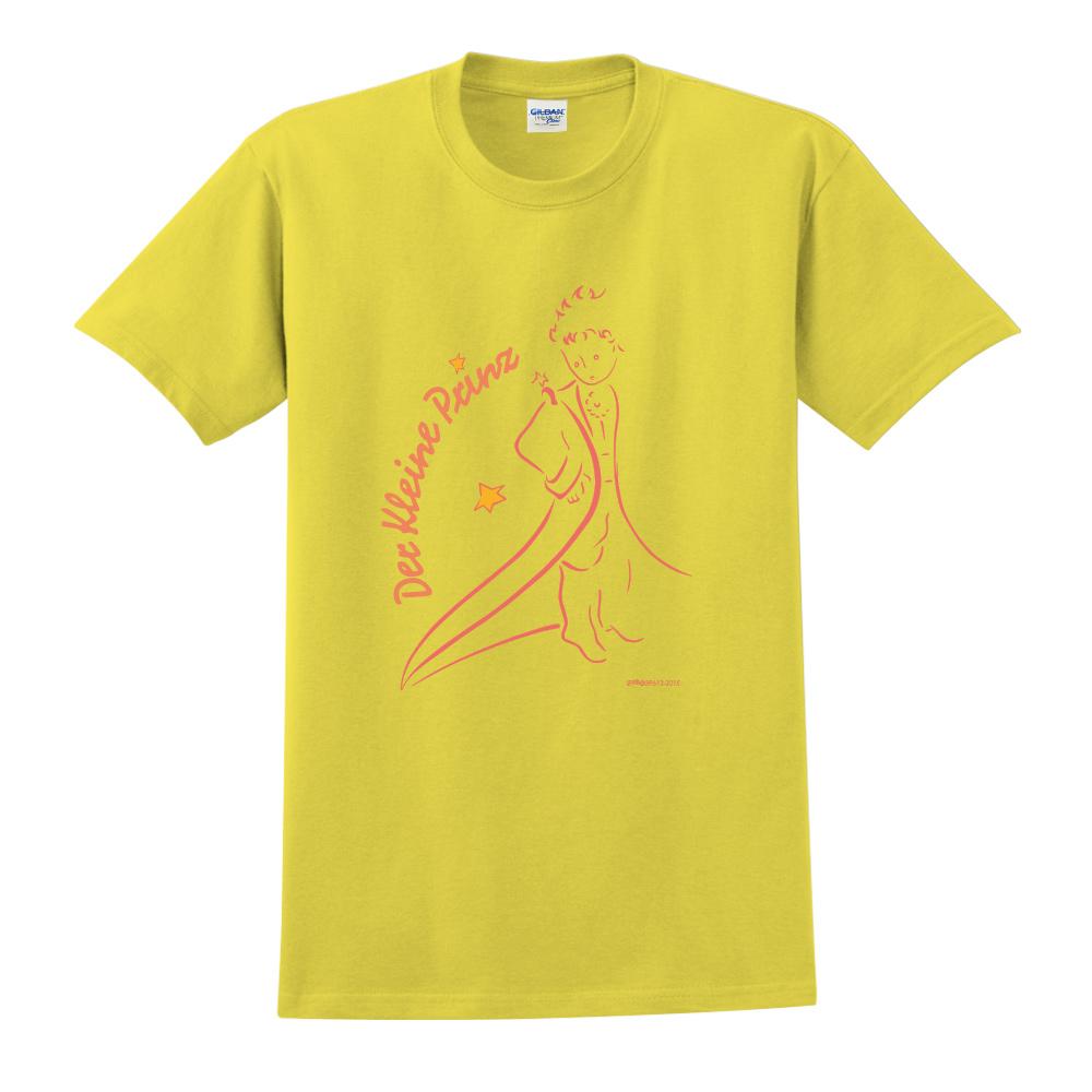 YOSHI850|小王子經典版授權【描繪小王子】短袖中性T-shirt (黃)