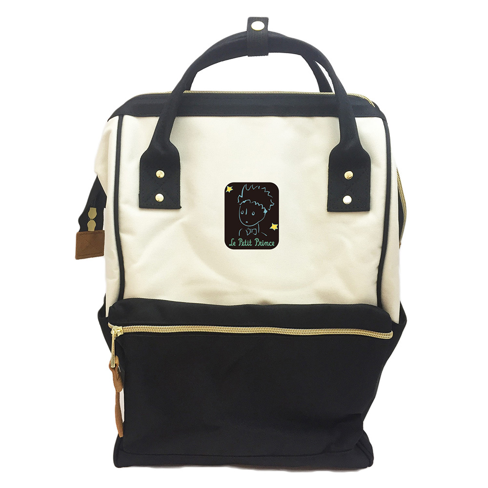 YOSHI850|小王子經典版授權:寬口後背包【黑白款】