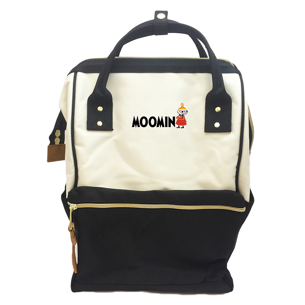 YOSHI850 嚕嚕米正版授權:寬口後背包【黑白款】