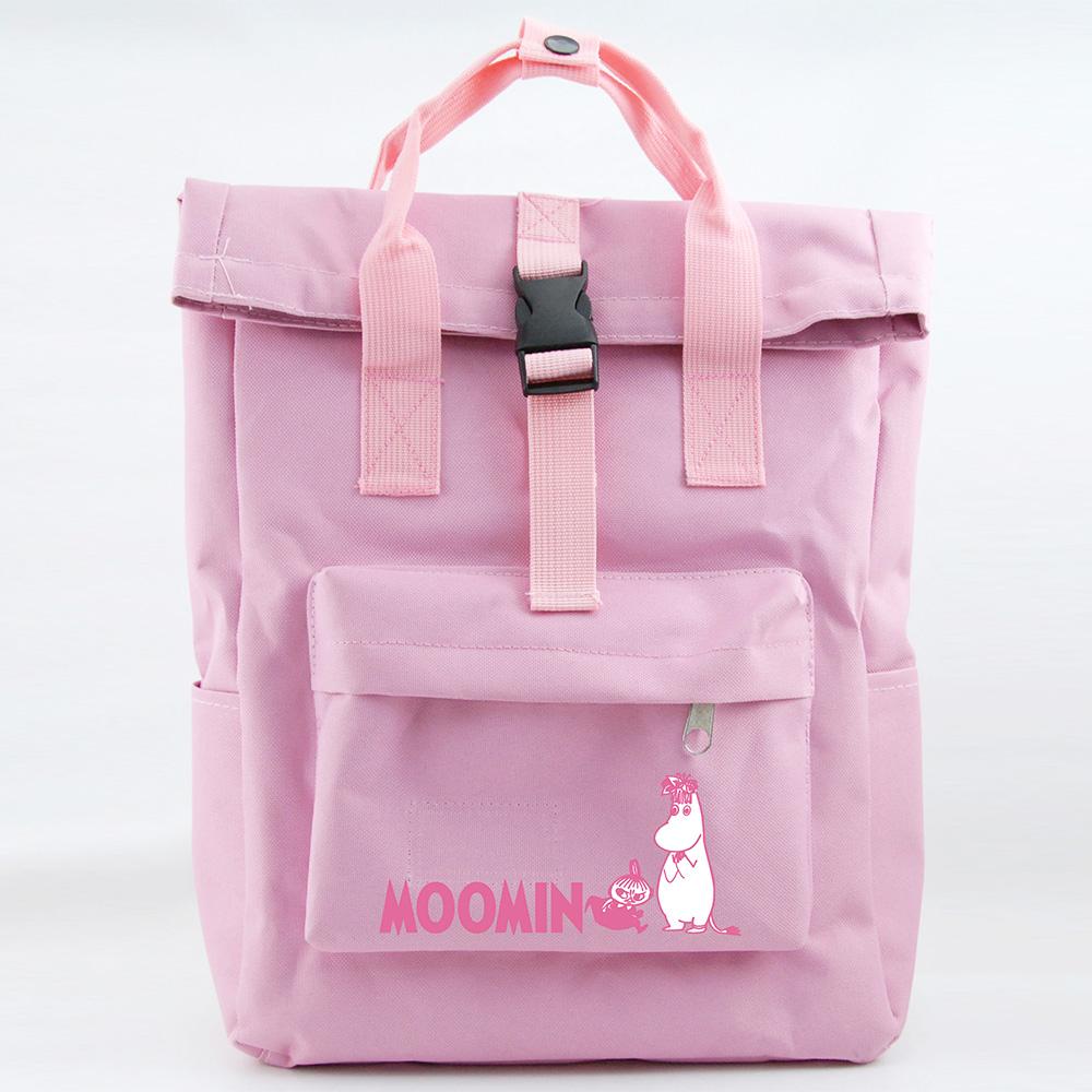 YOSHI850|嚕嚕米正版授權:開扣後背包【粉紅】