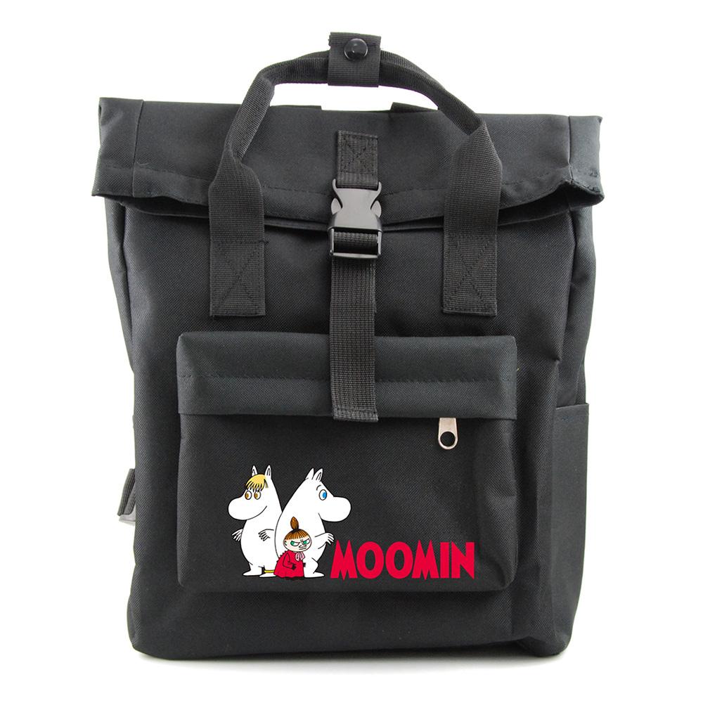 YOSHI850|嚕嚕米正版授權:開扣後背包【黑】