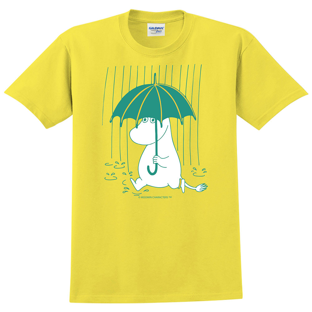 YOSHI850|Moomin嚕嚕米正版授權:T恤【雨中散步】成人短袖 T-shirt
