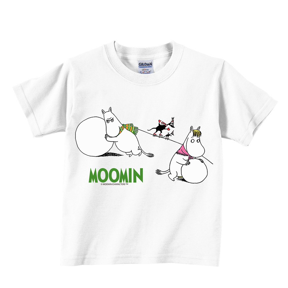 YOSHI850|Moomin嚕嚕米正版授權:T恤【堆雪球】兒童短袖 T-shirt