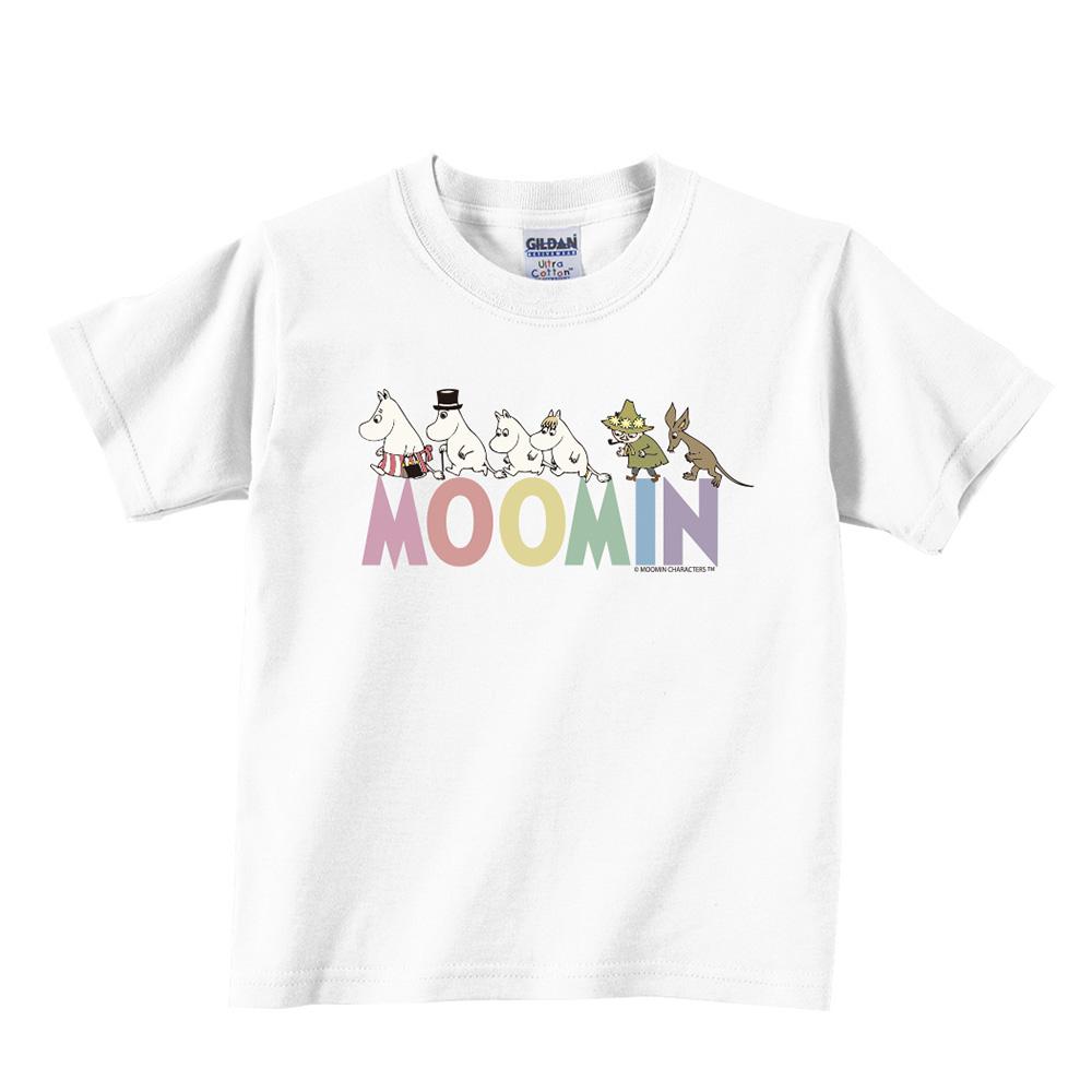 YOSHI850|Moomin嚕嚕米正版授權:T恤【Happy Family(W)】兒童短袖 T-shirt