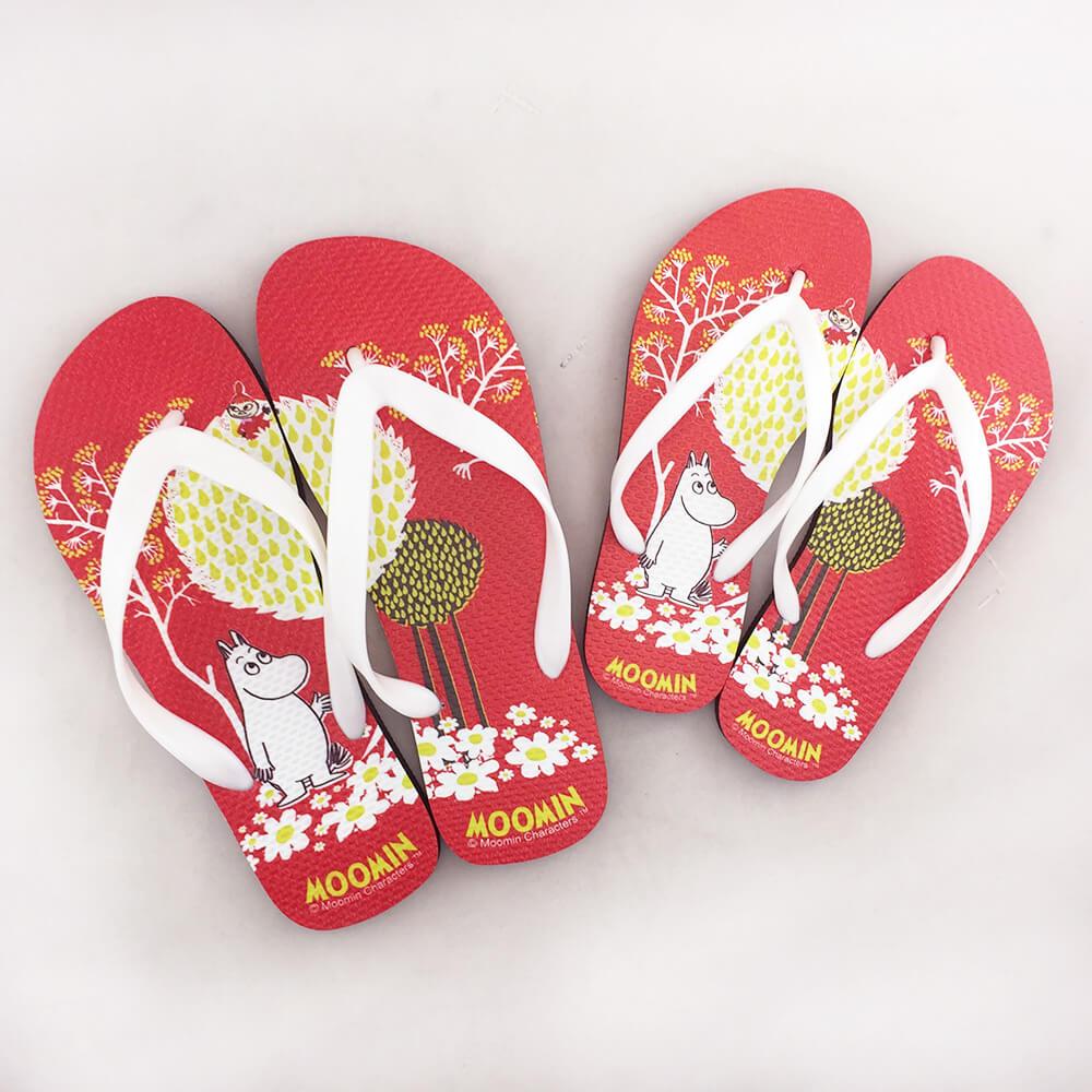 YOSHI850|Moomin嚕嚕米正版授權:夾腳拖鞋【01】女/男