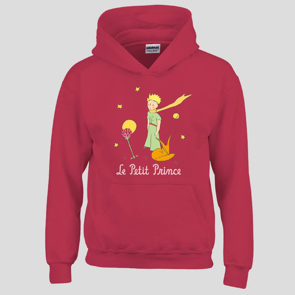 YOSHI850|經典小王子正版授權:帽T【為摯愛哭泣】成人長袖 T-shirt (紅)