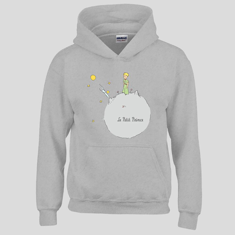 YOSHI850 經典小王子正版授權:帽T【另一個星球】成人長袖 T-shirt (麻灰)
