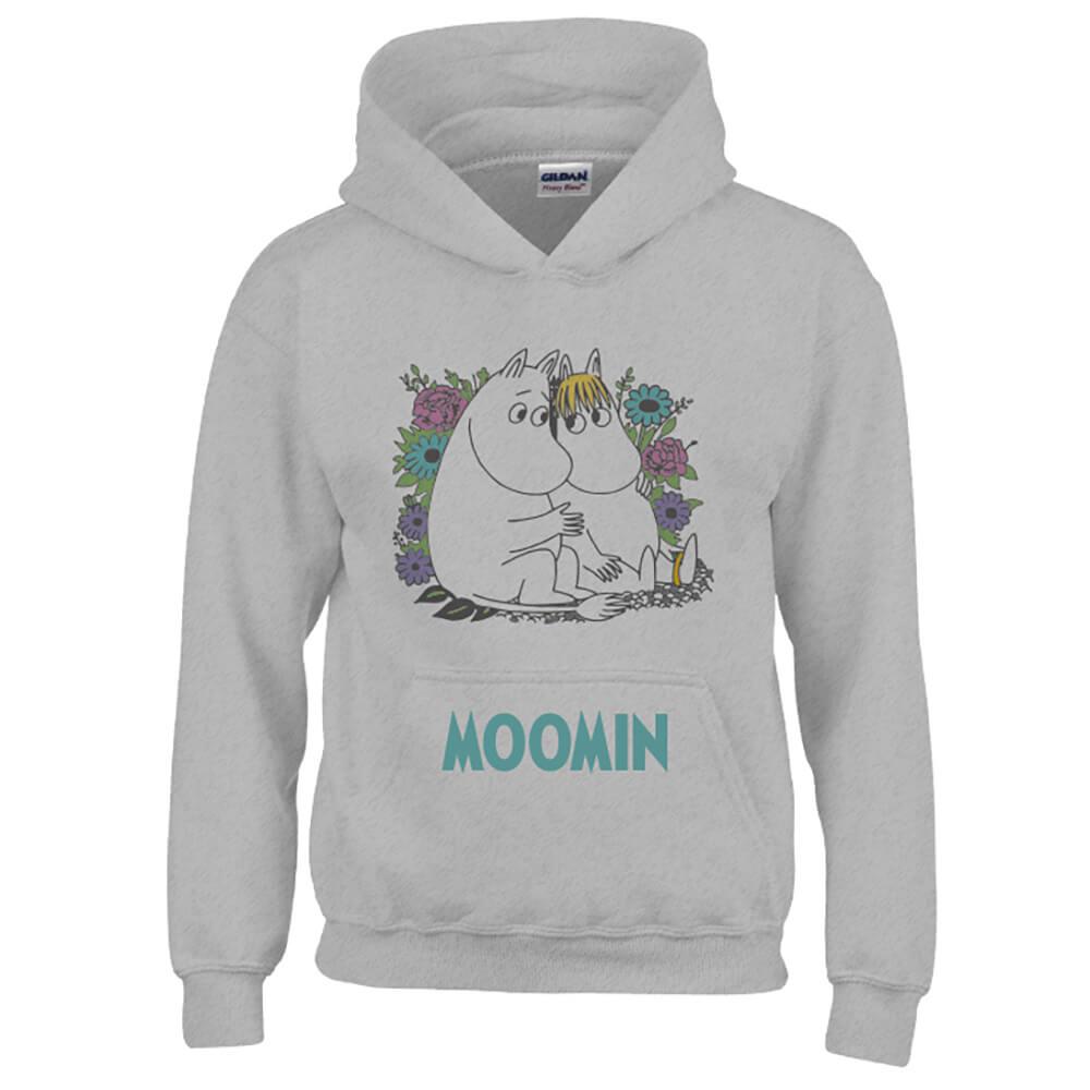 YOSHI850|Moomin嚕嚕米正版授權:帽T【羅曼史】成人長袖 T-shirt (麻灰)