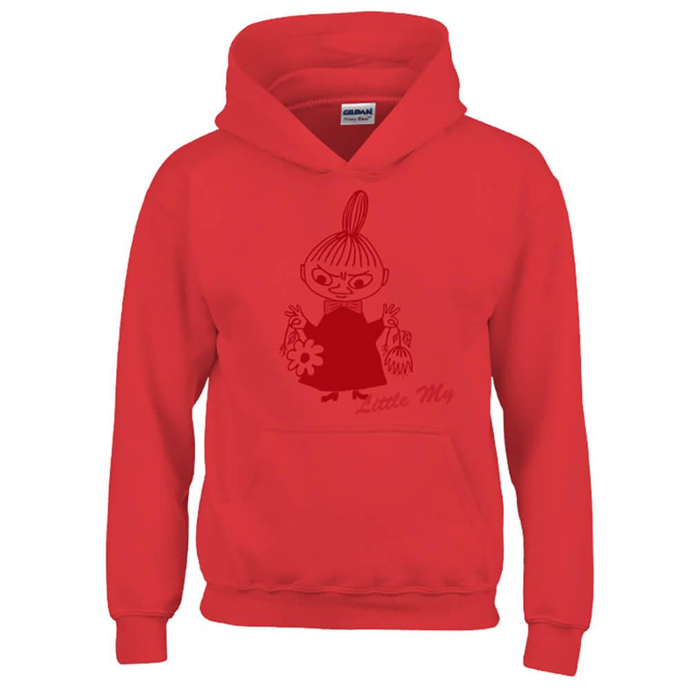 YOSHI850|Moomin嚕嚕米正版授權:帽T【Little My】成人長袖 T-shirt (紅)