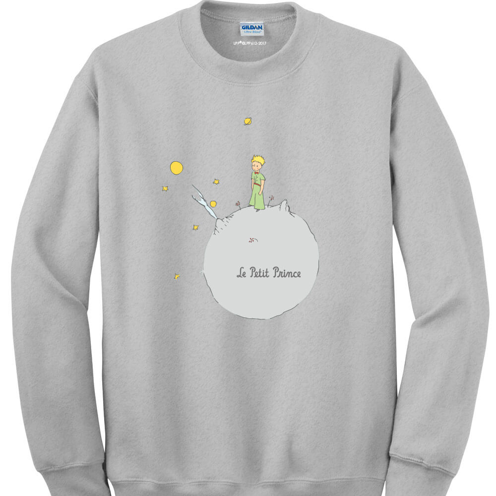 YOSHI850|經典小王子正版授權:大學T【另一個星球】成人長袖 T-shirt (麻灰)